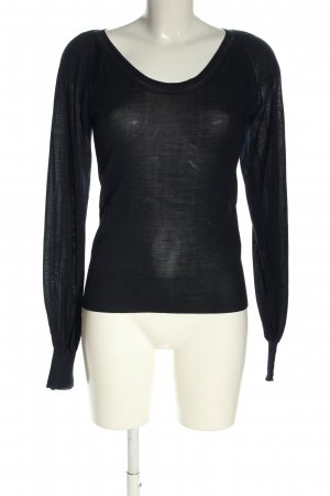 Armani Jeans Strickshirt schwarz Casual-Look