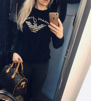 Armani Suéter blanco-azul oscuro