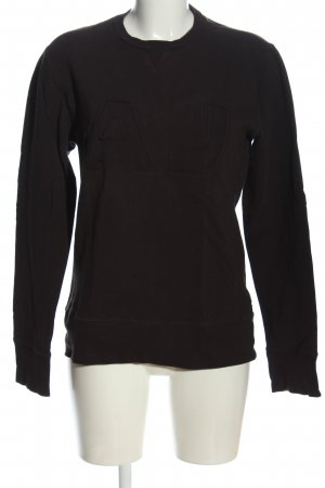 Armani Jeans Sweat Shirt black casual look
