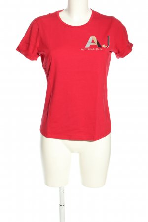 Armani Jeans T-Shirt Motivdruck Casual-Look