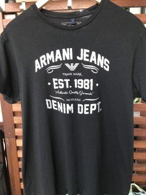 Armani Jeans T-Shirt black-silver-colored