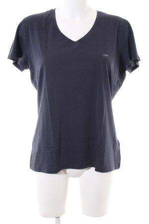 Armani Jeans T-Shirt blau Casual-Look