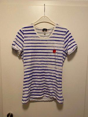 Armani Jeans T-Shirt   blau/weiß