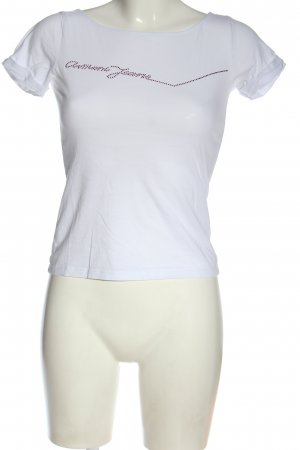 Armani Jeans T-shirt blanc lettrage imprimé style décontracté