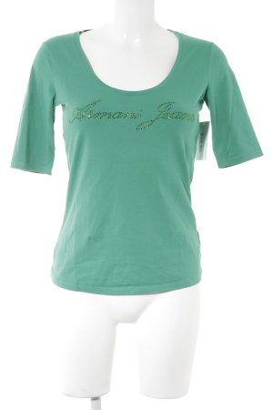 Armani Jeans T-shirt vert style décontracté