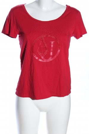 Armani Jeans T-Shirt red printed lettering casual look