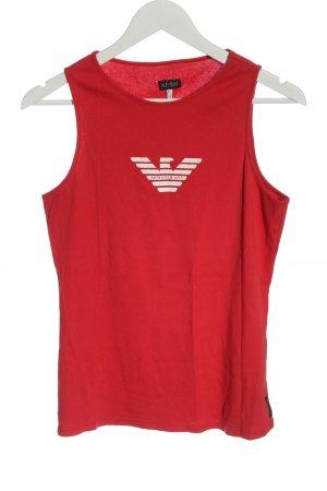 Armani Jeans Tanktop rood prints met een thema casual uitstraling