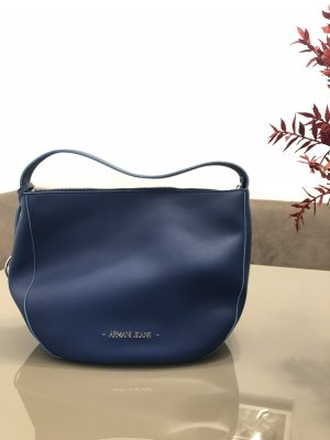 Armani Jeans Carry Bag dark blue leather