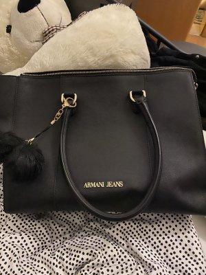 Armani Jeans Shopper noir-doré