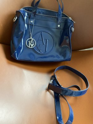 Armani Jeans Crossbody bag dark blue-silver-colored