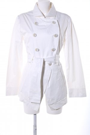 Armani Jeans Trenchcoat weiß Casual-Look