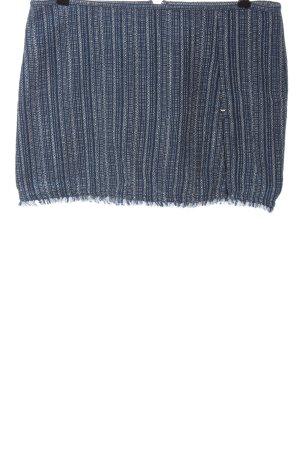 Armani Jeans Jupe en tweed bleu-blanc Motif de tissage style décontracté