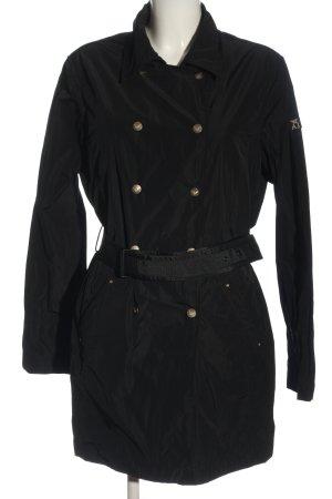 Armani Jeans Overgangsjas zwart casual uitstraling