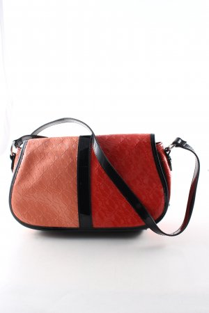 Armani Jeans Gekruiste tas licht Oranje zwart volledige print casual uitstraling