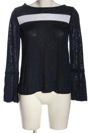 Armani Jeans T-shirts en mailles tricotées noir-blanc style décontracté