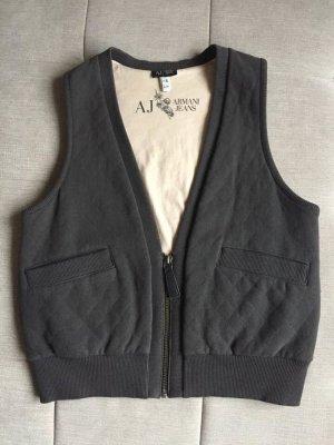 Armani Jeans Chaleco de punto gris-gris oscuro Algodón