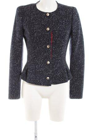 Armani Jeans Veste en laine noir-blanc imprimé allover style d'affaires
