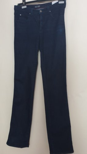 Armani Dopasowane jeansy ciemnoniebieski Bawełna