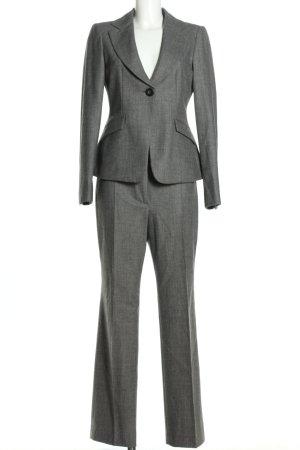 Armani Tailleur pantalone grigio chiaro puntinato stile professionale