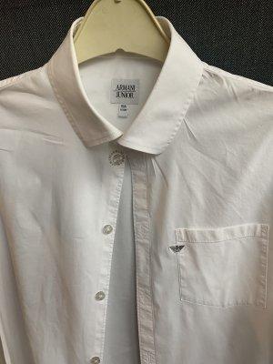 Armani Junior Long Sleeve Shirt white