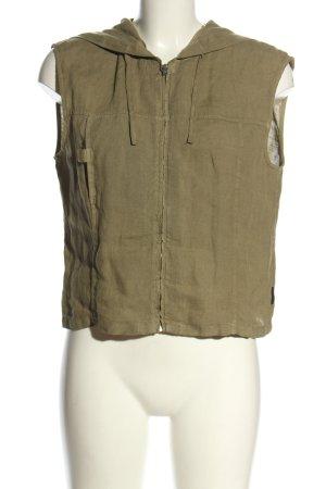 Armani Hooded Vest khaki casual look