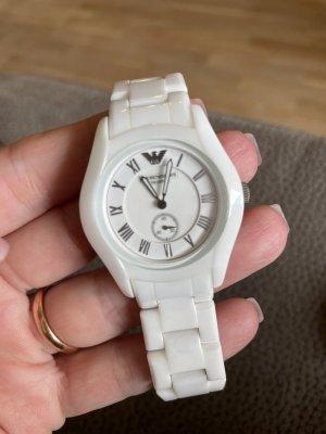 Armani Keramik Uhr weiß