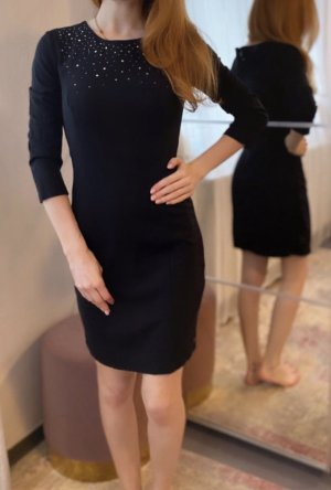 Armani Mini-jurk zwart-zilver