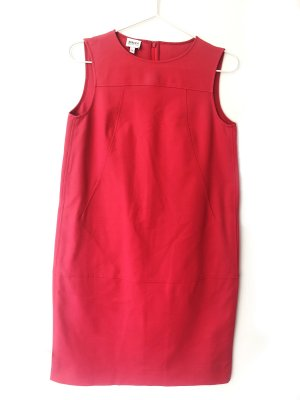 Armani Collezioni Robe trapèze rouge clair coton