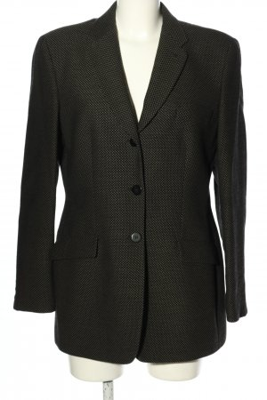 Armani Korte blazer zwart-khaki volledige print elegant