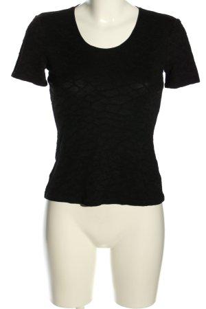 Armani Camicetta a maniche corte nero stile casual