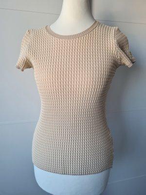 Armani Collezioni Sweter z krótkim rękawem kremowy-beżowy