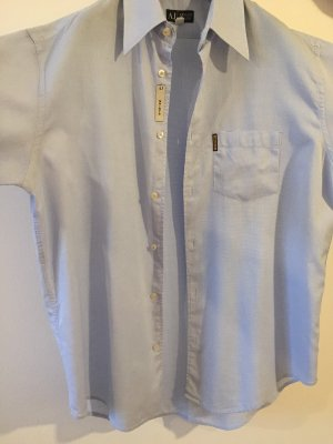 Armani Jeans Camisa de manga corta azul celeste