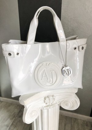 Armani Jeans Carry Bag white