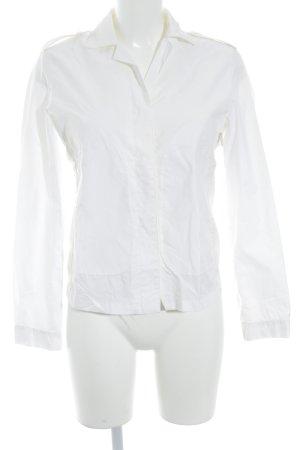 Armani Langarm-Bluse wollweiß Casual-Look