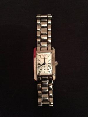 Armani Montre avec bracelet métallique argenté