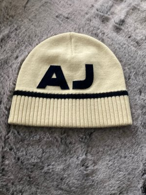 Armani Jeans Knitted Hat natural white-cream wool