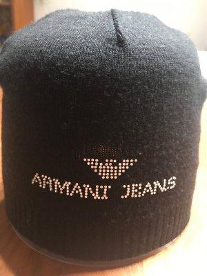 Armani Jeans Chapeau en tricot noir
