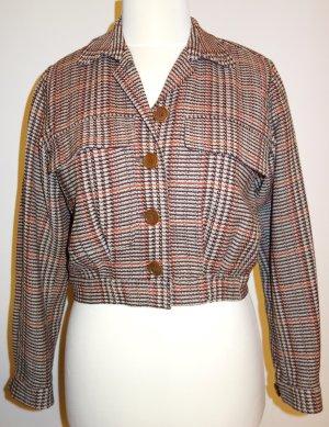 ARMANI (ohne Etikett/herausgetrennt!!!) Vintage-Blouson, pure wool, Glencheck-Karo, Gr. M/L