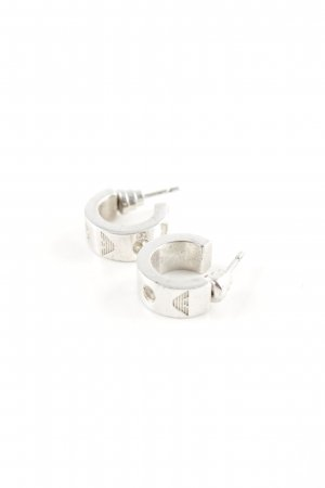 Armani Ear stud silver-colored business style