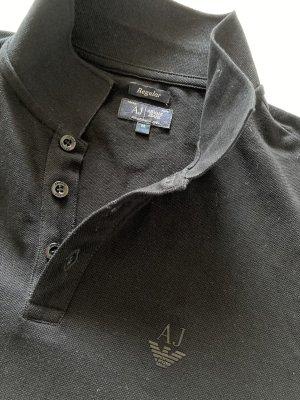 Armani Polo shirt zwart Katoen