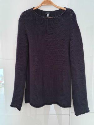 Armani Jeans Coarse Knitted Sweater dark blue
