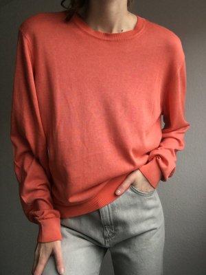 Armani Collezioni Pull ras du cou orange-orange clair coton