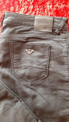 Armani Spodnie ze stretchu czarny