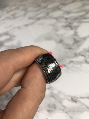 Armani Anello di fidanzamento nero-argento