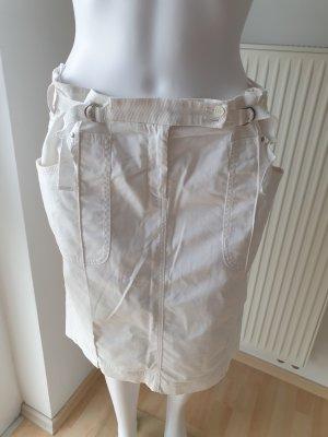 Armani Collezioni Jupe en jeans blanc cassé