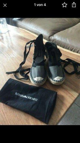 Armani Strapped Sandals black