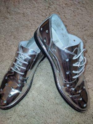 Armani Jeans Sneakers met veters zilver