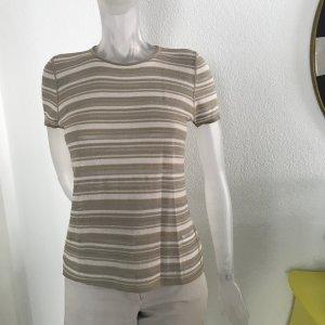 Armani Shirt gestreift, Natur/Creme