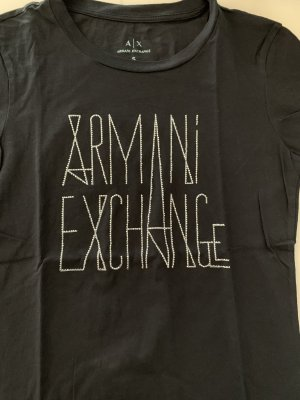 Armani Exchange T-shirt bleu foncé