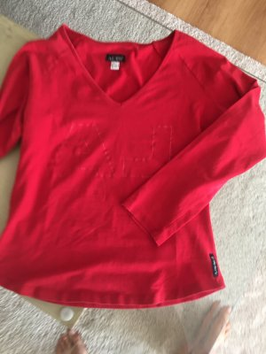 Armani Jeans T-shirt rood Lycra